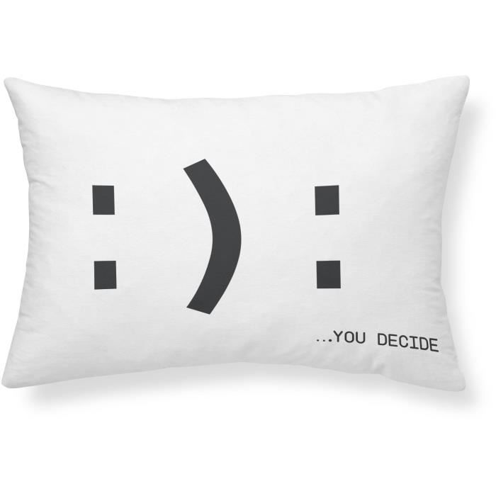 COUSSIN TODAY Coussin Geek Game Happy/Unhappy - 30 x 50 cm