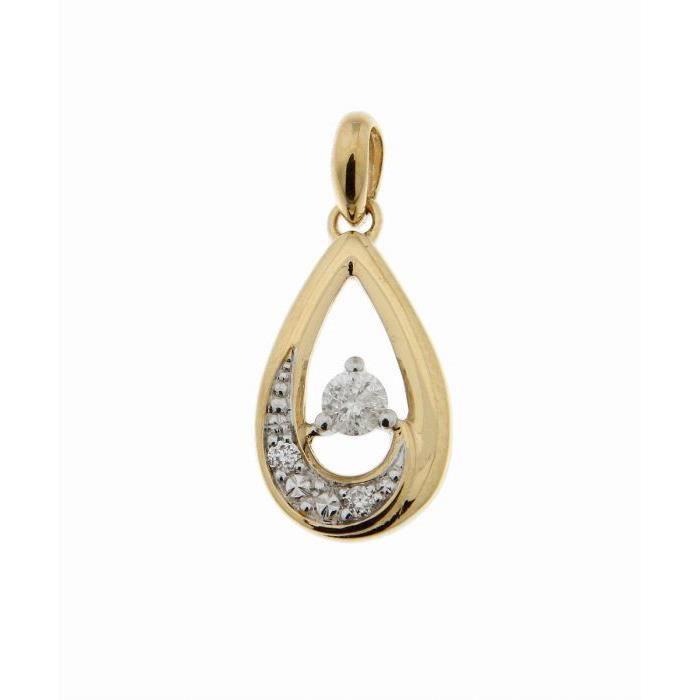 Pendentif or jaune Diamant