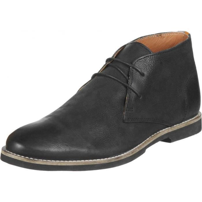Chaussures Montante FRANCK WRIGHT Totton black leather Homme Pointure 44