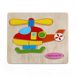 CASSE-TÊTE Casse-tête en bois Hélicoptère éducatif développem