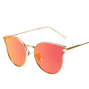 Homme Femme Mode Vintage Métal Bordure chat miroir des lunettes de  soleil poi144 7a9badda48c8
