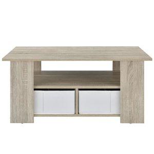 MEUBLE TV MURAL en.casa table de salon (90 x 50 x 41 cm) en plaqué