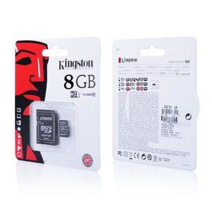 CARTE MÉMOIRE Carte Mémoire Micro SD SDHC 8 GO Classe 10 + Adapt