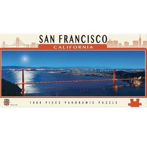 PUZZLE Puzzle 1000 pièces panoramique : San Francisco, Ca