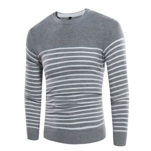ae46251eff3 PULL Pull en maille homme col V rayures slim manches lo