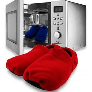 Chaussons chauffants au micro ondes Rouge - PlaneteDiscount