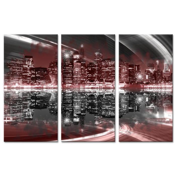 Tableau Déco Triptyque Photo Vue Skyline NYC - 120x80 cm