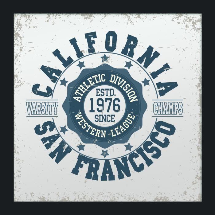 USA San Francisco Miroir - 40x40cm - Motif impriméMIROIR