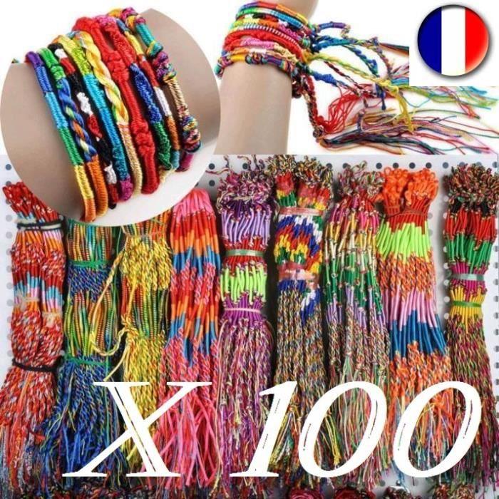 comment choisir acheter officiel de vente chaude Lot De 100 Bracelets Brésiliens - Friendship - Achat / Vente ...