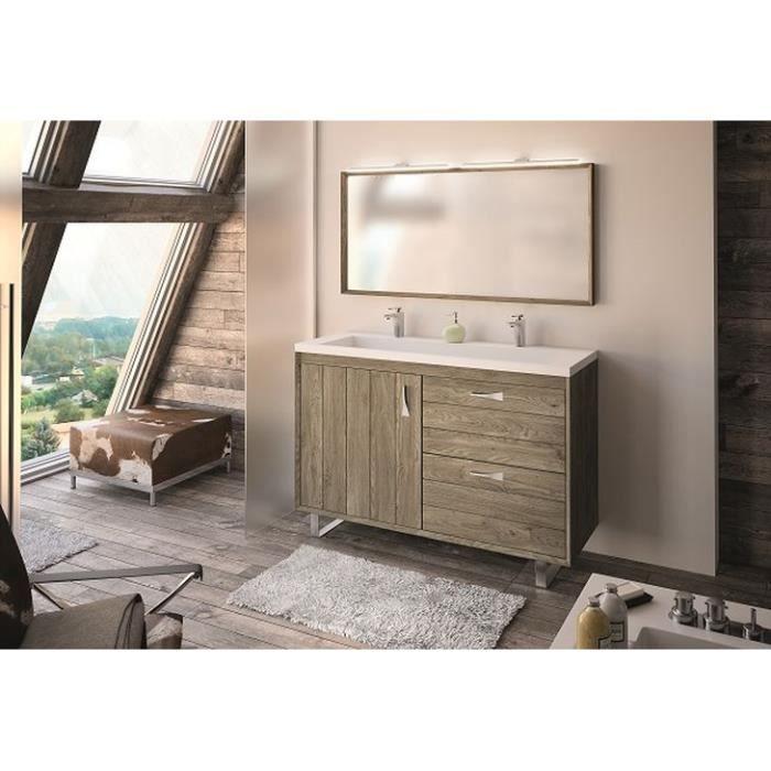 refuge meuble sous vasque 120 cm a poser plan double vasque c ramique achat vente meuble. Black Bedroom Furniture Sets. Home Design Ideas