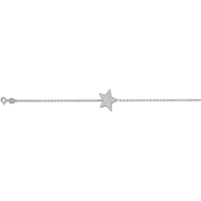 SF Bijoux - Bracelet argent 925/1000e OZ étoile (16+2 cm - 2,10 g) - (401391-18)