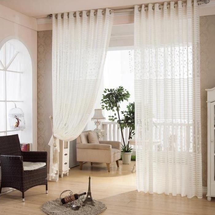 1pc 150cmx270cm rideaux de la chambre cuisine tringle rideaux pour le salon rideau voilage for Voilage pour salon