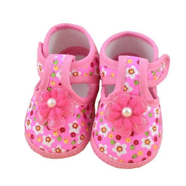 """"""" Bébé Fleur Bottes souples chaussures Berceau"""
