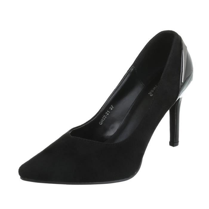 Femme chaussures escarpin High Heels noir 40 1HNQ1