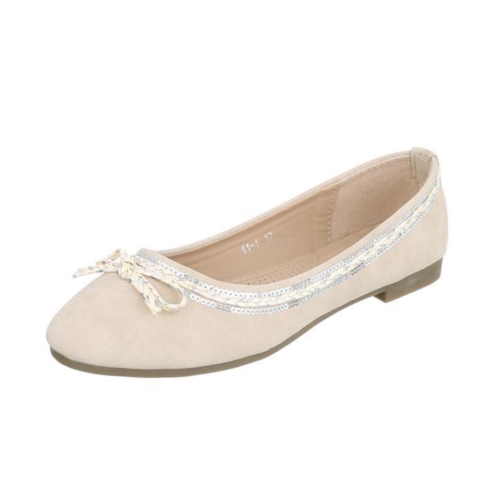 Chaussures femme ballerine escarpin Beige 41