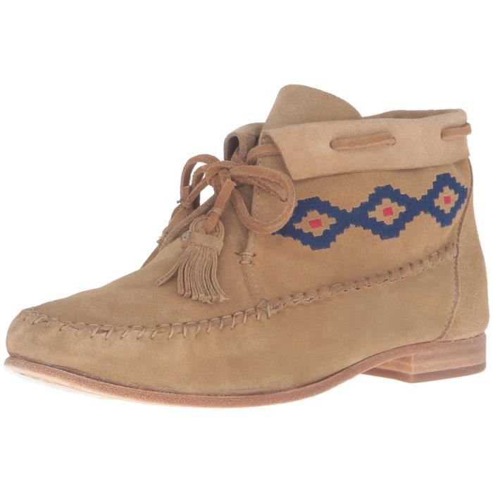 Moccasin Emroidered cheville Bootie NAKBH Taille-39