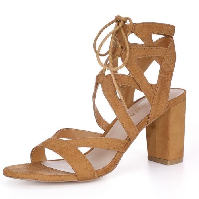 Sandales coupe-circuit à lacets lacets de femmes FHJJU Taille-41