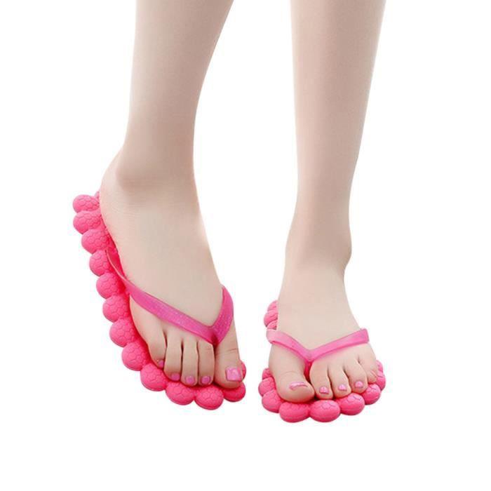 Plage Femmes Massage Chaussures De Des Pantoufles Occasionnels Mode Voyager rose Tongs Vif D't 8wqxnZEAC