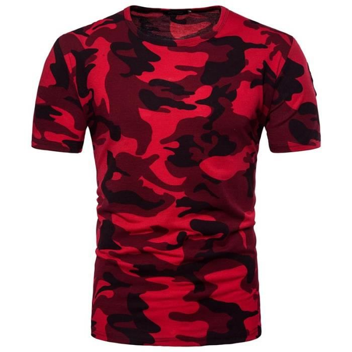 t shirt manches courte homme col rond camouflage tee shirt. Black Bedroom Furniture Sets. Home Design Ideas