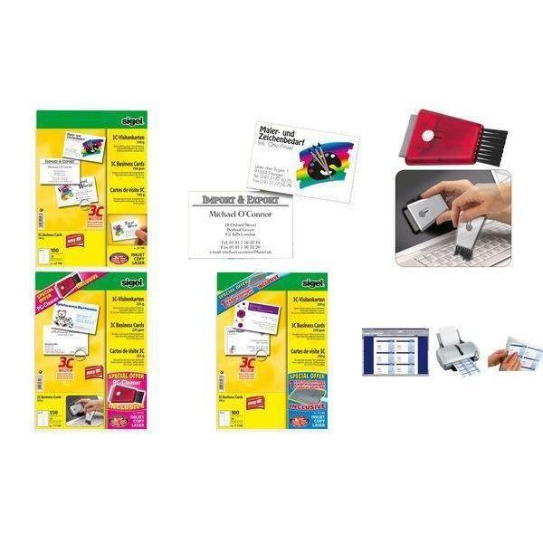 Cartes De Visite 3C 85 X 55 Mm 225 G M2 Extra B