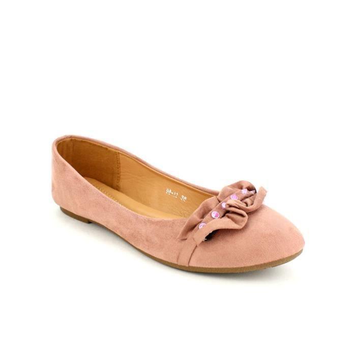 Chaussures Femme Cuir Classique Comfortable Chaussure LLT-XZ047Rose39 Hc2P5Ng7i