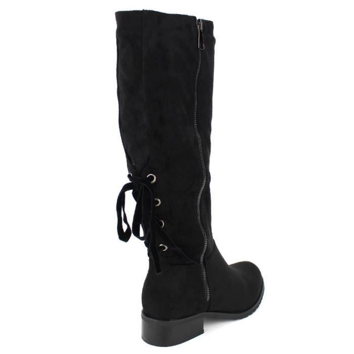 Femme Chaussures Bottes Bottes botte Cendriyon Noir Noir botte qxpwv8PH