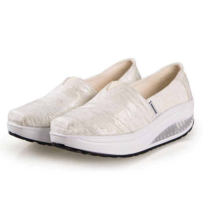 bleu vert Gd blanc t Fond Pais Chaussures violet rose Printemps Rouge Chaussure xz064blanc36 Femme marron OqaY6