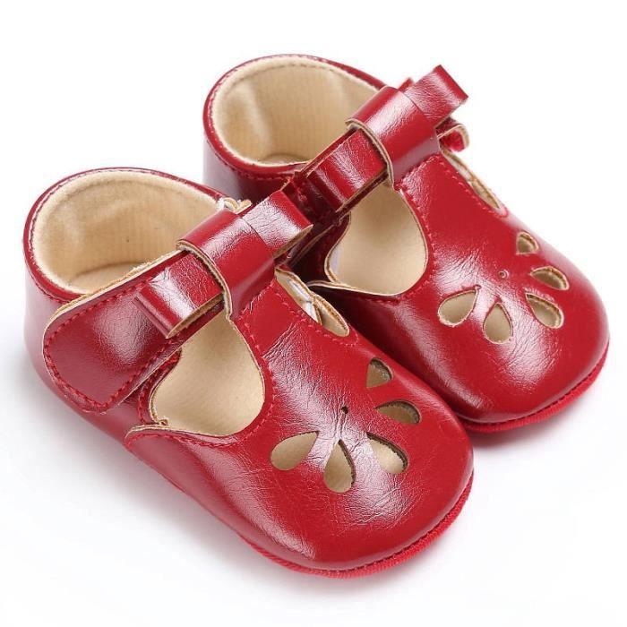 Tout-petit bébé Chaussures d'été rouge 3rouge 3 Beau Enfants Enfants creux Princesse Sandales de plage