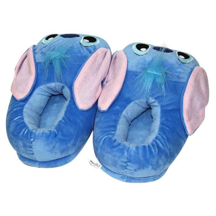 Pantoufles Femme Homme Monstre Bleu En Peluche Hiver Populaire BWYS-XZ159bleu36 BRodwnJJ2d