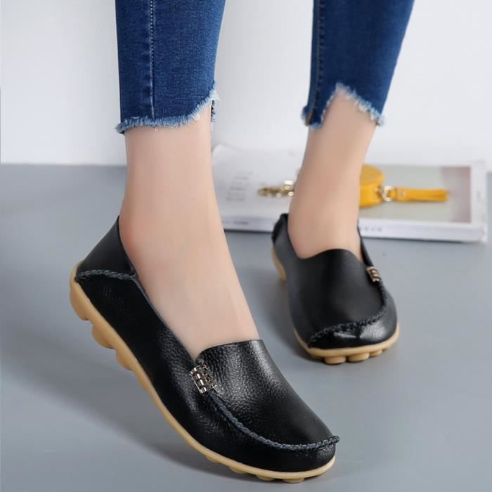 Cuir Mocassins sauvage conduite Flats Casual BBLGE Taille-38