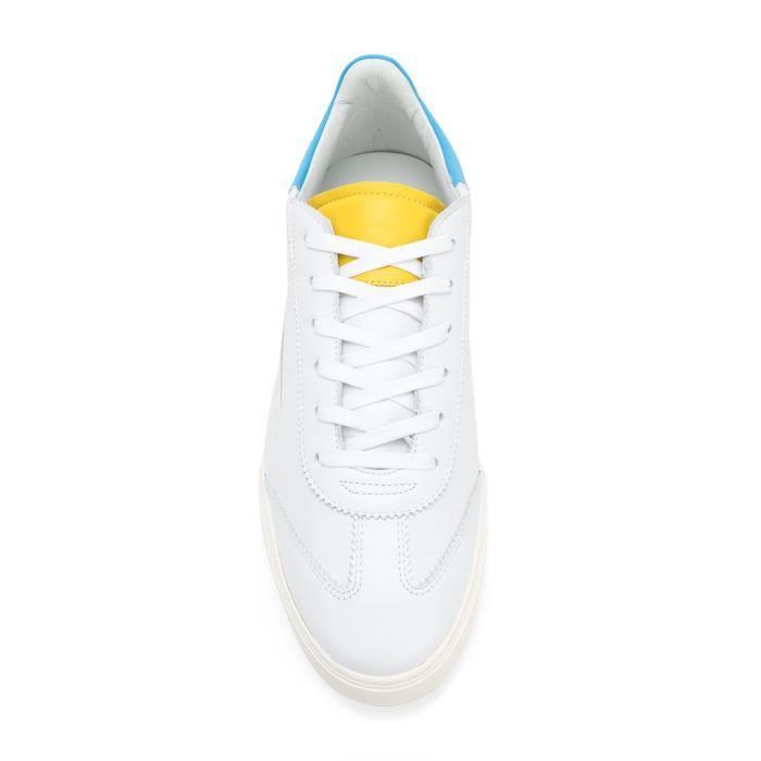 Blanc Cuir L01mllwy Ghoud Homme Baskets wxCUUn