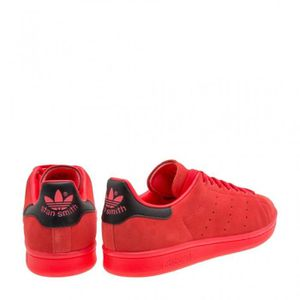 stan smith rouge cuir