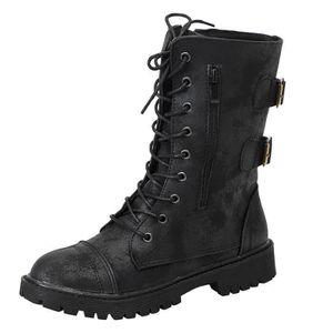 ca0cd5336 Chaussures pour dames femmes équitation romaine demi-Cowboy Bottes ...