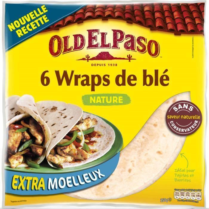 OLD EL PASO Wraps de blé nature - 350 g