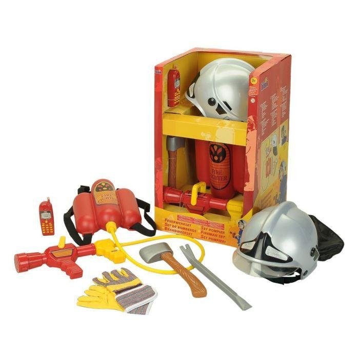 FIRE FIGHTER HENRY - Grand Set de Pompier avec casque et lance