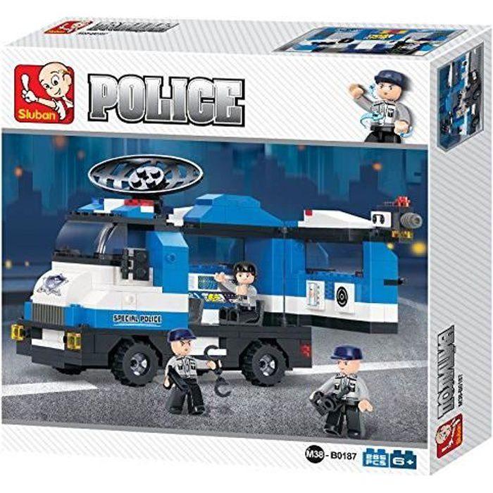 Briques Compatibles Lego - Construction - Police - Le Camion Radar De Police - Sluban