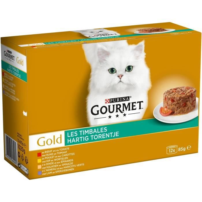 GOURMET Gold Les Timbales - pour chat - 12 x 85g