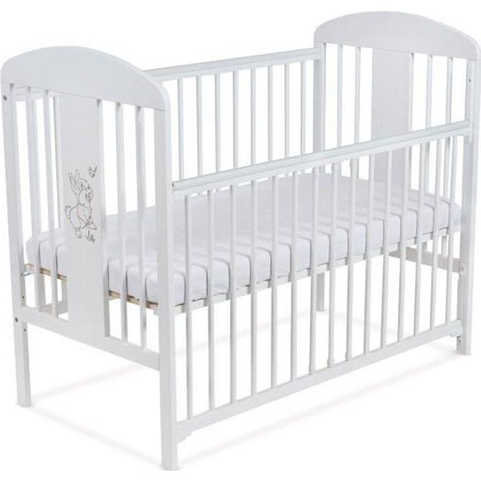 """lit pour bébé à barreaux tomi 18 - """"lapin"""" barrière coulissante"""