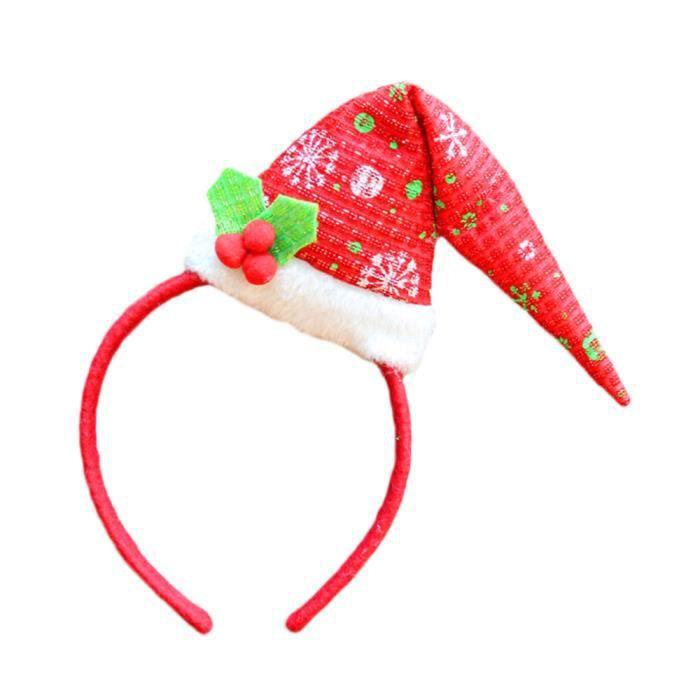 grandes variétés grande vente au rabais baskets pour pas cher Hot Noël Bandeau Père Noël Noël Party Décor Double cheveux bande fermoir  tête Hoop-YMF70822676A_1000