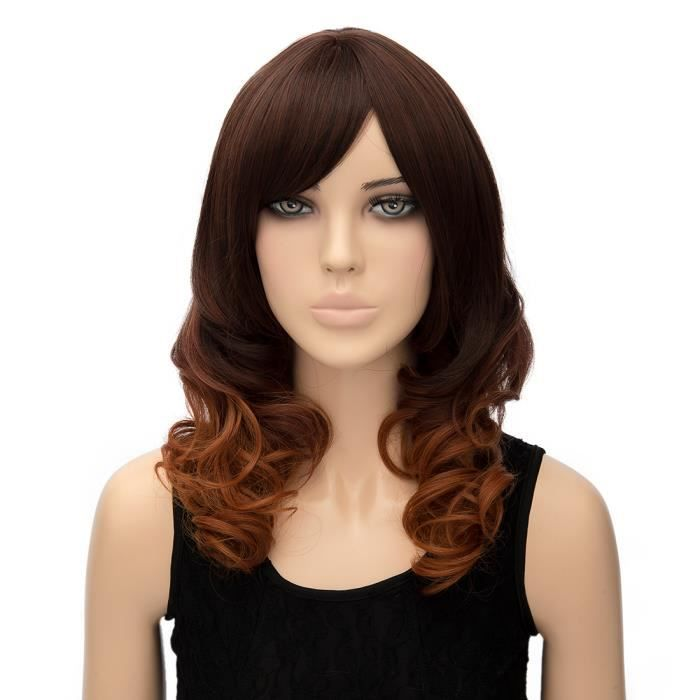 Egymatic occasion perruque Dark Brown Gradient