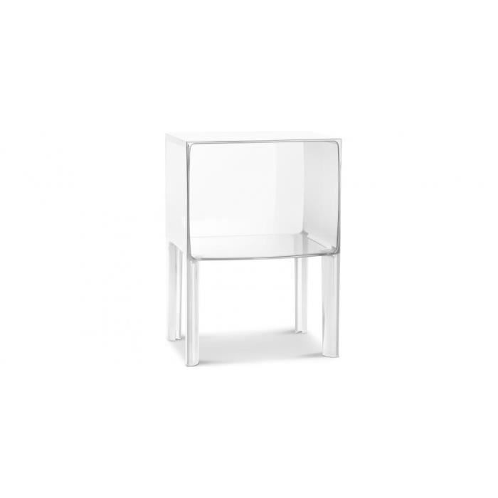 table de chevet transparente ghost buster inspir achat vente chevet table de chevet. Black Bedroom Furniture Sets. Home Design Ideas