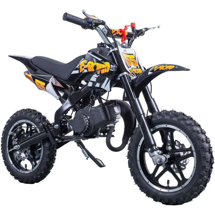 MOTO E-ROAD Dirt Bike Pocket Cross 49.9 cc - Noir