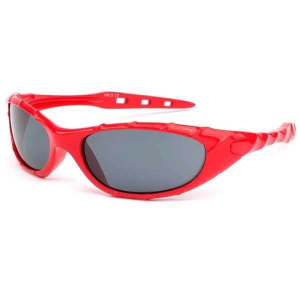 f4333a4dc6 LUNETTES DE SOLEIL Lunette soleil enfant rouge sport Tak 6 a 12 ans -
