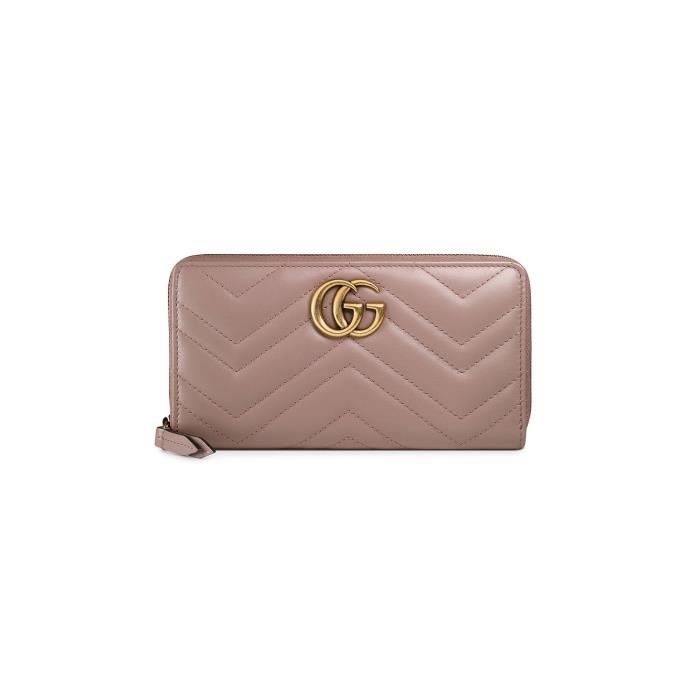 024181ecf06 GUCCI FEMME 443123DRW1T5729 ROSE CUIR PORTEFEUILLE Rose - Achat ...