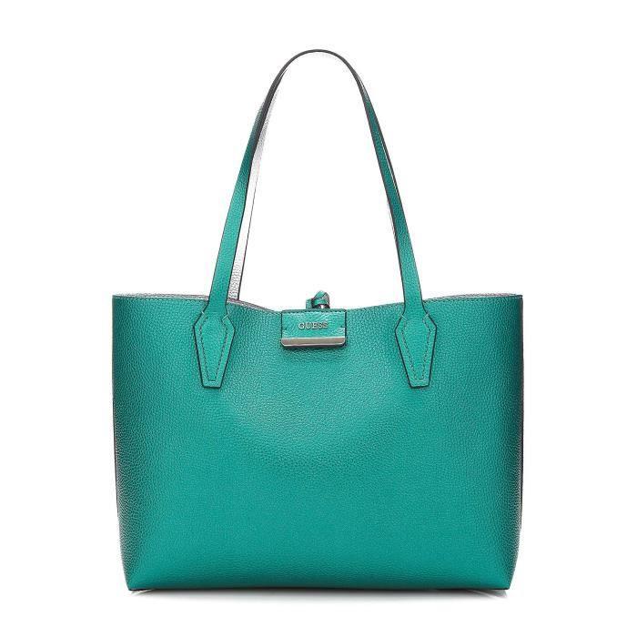 Guess Sac Cabas Femme Réversible Bobbi Vert Multicolore - Achat ... 90777048020e