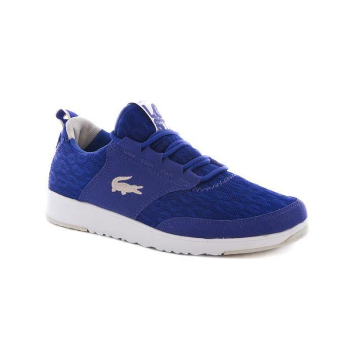 e514b4e0962 Chaussure dame running Lacoste light en daim et mesh Bleu - Achat ...