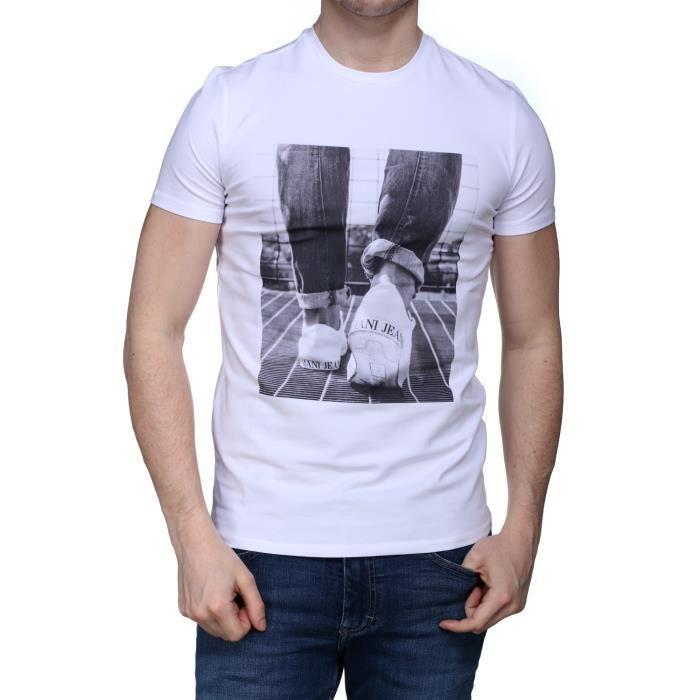 Armani jeans 3y6t13 T-shirt Homme Blanc Vente Recommander Collections Discount Faux Pas Cher QbNszGo