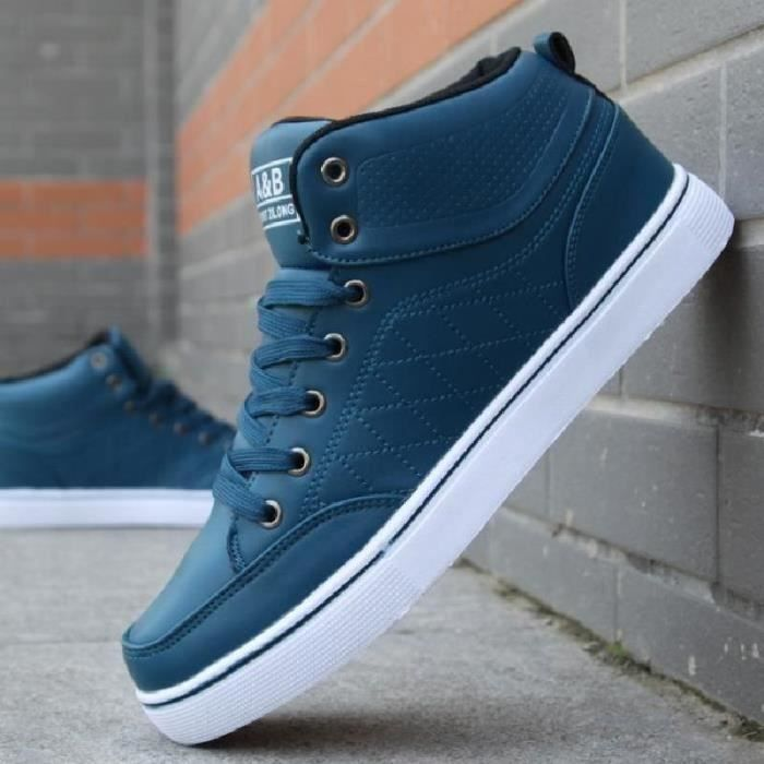 SHELOVEIT® Bottes dhaute Top Mens Sneakers casual chaussu...