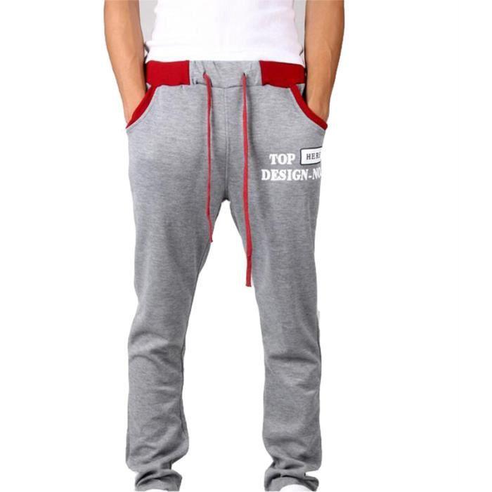 Pantalon de jogging Homme sport imprimé Pantalon Hommes avec Droit - Noir 2e80cf08a969