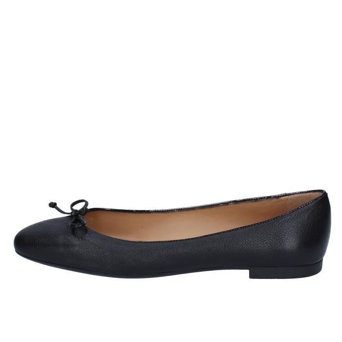 64b1ee0602bdd6 BALLY Chaussures Femme Ballerine Cuir Noir BZ986 Noir Noir - Achat ...